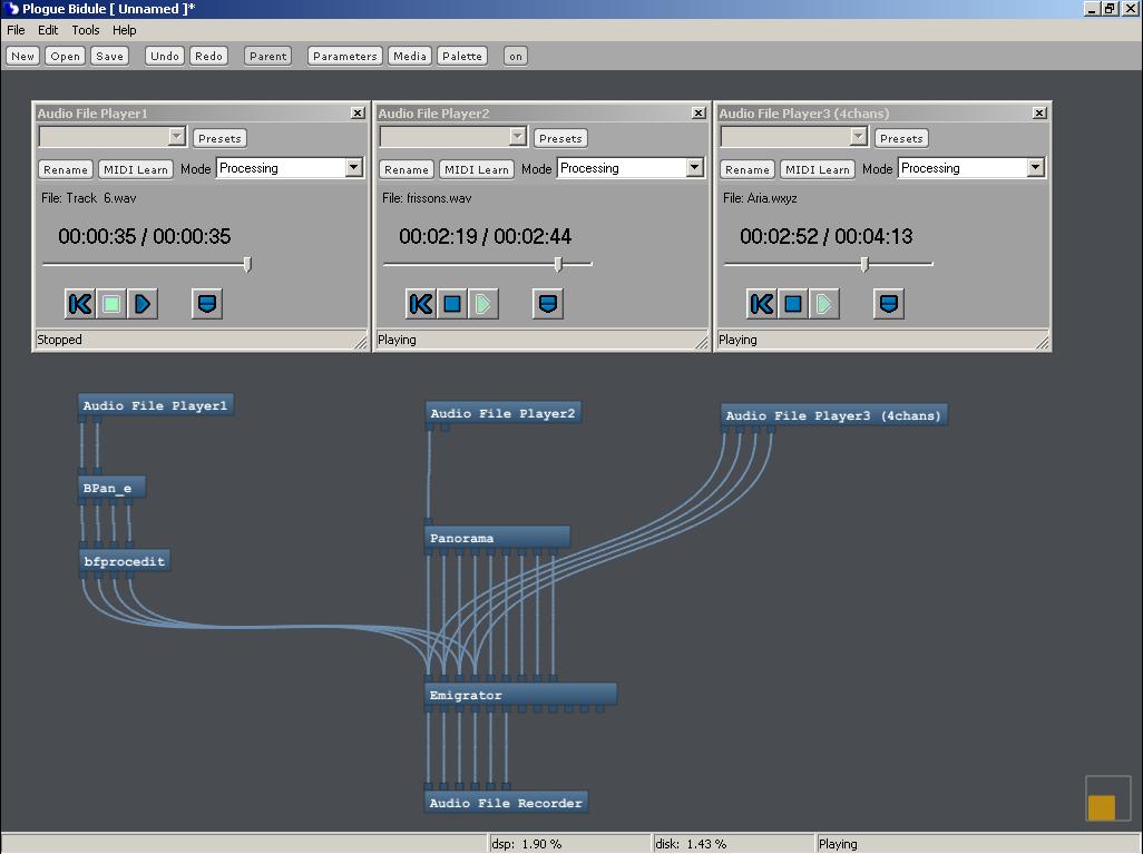 Plogue Bidule for Mac OS X screenshot
